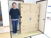 垂井町より修理依頼の夫婦箪笥の開タンスを名古屋に納品してきました。