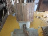 桐箪笥修理、側板削り後