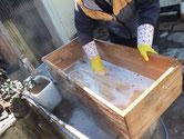 知多郡武豊町より修理依頼の箪笥の引出洗いです。