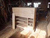 新しく作った前板を本体に仕込み、後本体と接合して組み上げます。