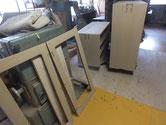 砥の粉下塗り後、ヤシャ仕上げをして乾燥させています。