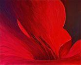 ROTE BLÜTE Acryl / Lwd. 80 x 100 cm