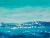 EISMEER Acryl / Papier 45 x 60 cm