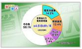 家庭の電気使用量(BSテレビ東京のWebサイトより)