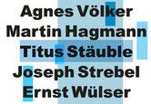 Namen der Künstler als Grafik