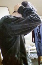 奈良県大和高田市の肩こりと背中痛の女性