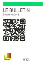Couverture bulletin syndical septembrre  2012