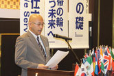 L.川田会長から歓迎の言葉