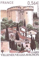 Un nouveau timbre pour Villeneuve lez Avignon