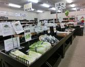 地元で採れた野菜などが販売されている場所も