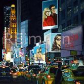 Ölgemälde einer Straßenszene in New York