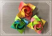 出展番号⑤ ハサミもノリも使わず、1枚の折り紙から作るカワサキローズのワークショップ。
