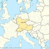 Süddeutschland, Österreich, Schweiz und Liechtenstein, in dem TWIs Vertrieb durch AluStir erfolgt