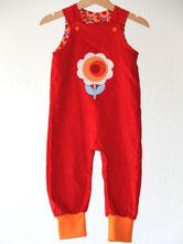 Lumpenprinzessin Strampelhose Feincord Dutch Love rot nach Klimperklein Handarbeit/Genähtes, hergestellt in Deutschland
