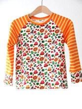Lumpenprinzessin Langarmshirt Rehkitz gelb orange Handarbeit Genähtes
