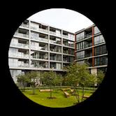 """Grafik: """"IMMOBILIEN-PROJEKTENTWICKLUNG - zur Übersicht Wohnungsbau - DEUTSCHE IMMOBILIEN Entwicklungs GmbH, Hamburg"""""""
