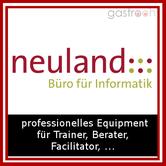 Neuland- Hat sich auf Präsentationsmaterialien spezialisiert und bietet so vom Marker bis zur Flipchart