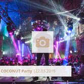 Logo Coconut Party März 2019 Halle Tor 2, Die Halle Tor 2, Halle Tor 2, Party, Disko, Tanzen, Club, Kölner Nachtleben, Event, Veranstaltung heute, Musik, Eventlocation Köln