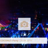 Logo Coconut Party April 2019 Halle Tor 2, Die Halle Tor 2, Halle Tor 2, Party, Disko, Tanzen, Club, Kölner Nachtleben, Event, Veranstaltung heute, Musik, Eventlocation Köln