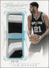 TIM DUNCAN / Dual Patch - No. DP-TD  (#d 6/15)