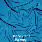 joustava kangas lycra dance crepe ocean blue