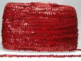 Paljettinauha joustava 12mm holo punainen