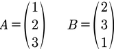 Beispiel für zwei Punkte im 3D Raum