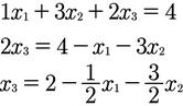 Rechenschritt zur Berechnung der Parameterform