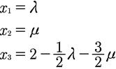 2. Rechenschritt zur Berechnung der Parameterform einer Ebene