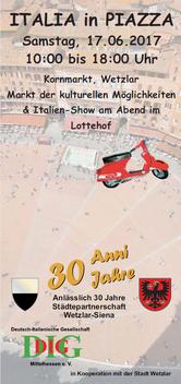 Italia in Piazza - Veranstaltung der Deutsch-Italienischen Gesellschaft Mittelhessen e. V.