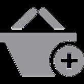 icone représentant un panier avec un signe +