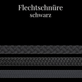 Button Flechtschnüre schwarz Bühnentechnik