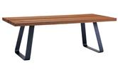 Holztisch mit Eisenfüssen, Platte auf Mass