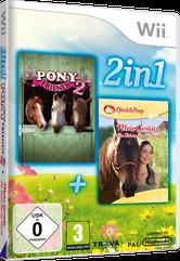 Packshot 2 in 1 Spielesammlung: Pony Friends 2 + Mein Gestüt – Ein Leben für die Pferde