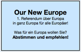 Bild: Banner Our New Europe