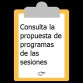 Carpeta de clip con la indicación de la programación de Coaching Grupal