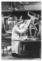 Sascha Schneider im Atelier