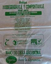 bolsa biodegradable y compostable fabricada en Argentina