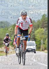 Eric dans la montée de Luzeran