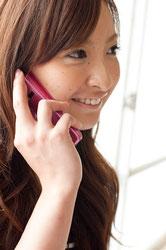 電話での夫婦相談の様子