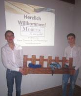 v.l.n.r.: Fabian Zottmann und Lukas Beerschwinger; Foto: Sandra Foistner