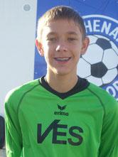 Half bei der U17 aus: C-Junioren Torhüter Christopher Orluk