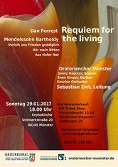 Enno Kinast Bass Bariton Münster Sebastian Zint Oratorienchor Münster Kourion Orchester Münster Felix Mendelssohn Bartholdy Dan Forrest Requiem Erphokirche