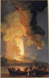 Pierre-Jacques Volaire, L'éruption du Vésuve, 1771, huile sur toile, collection musée des beaux-arts de Brest.