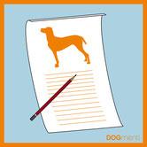 Blatt und Stift Thema Hund Bild