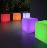 cube led couleur à louer