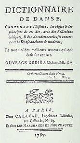 Charles Compan (~1740-) : Danses des Chinois. Un article du Dictionnaire de danse. Cailleau, imprimeur-libraire, Paris, 1787, tome I, pages 53-80.
