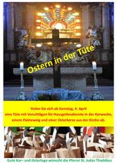 Plakat Ostern in der Tüte