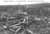 Evrecy après le bombardement