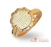 Монета Долголетие, кольцо